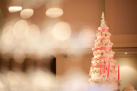 wedding reception decoration: Beautiful vintage cake for wedding reception