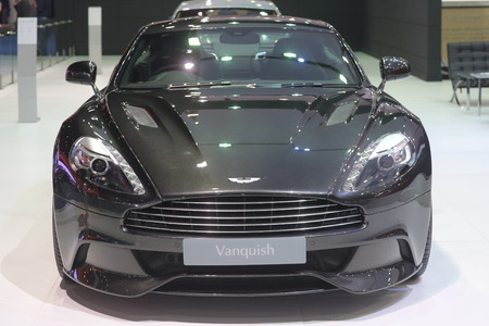 spectre: Bangkok - March 31 : Aston martin Spectre 007 Vanquish on black car at The 37th Bangkok International Thailand Motor Show 2016 on March 31, 2016 in Bangkok, Thailand Editorial