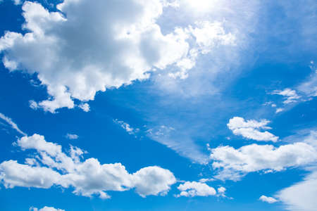 nebulosity: Beautiful blue sky with with cloud Stock Photo