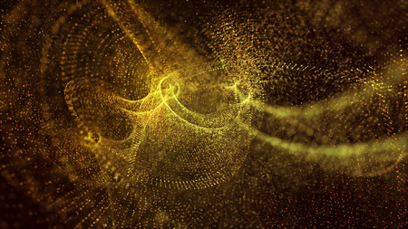 Festive glitter vintage lights abstract background, bright and glow of yellow and gold color can use for celebration , holiday and Christmas background with copy space 版權商用圖片