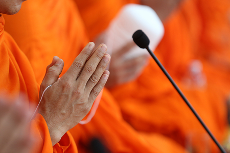 make merit, chant, blessing, recive blessing from the monks.