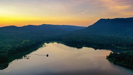 Reservoir Huay Lao Yang in Nong Bua Lam Phu Province Is a reservoir similar to Pang Ung Famous tourist attractions in northern Thailand.