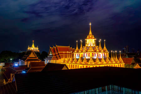 Wat Ratchanadda or Loha Prasat and Golden Mount Is a temple that is a landmark of Thailand.