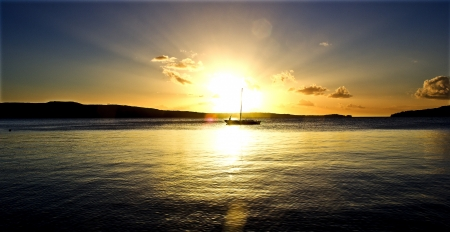 vanuatu: Sunset in Vanuatu