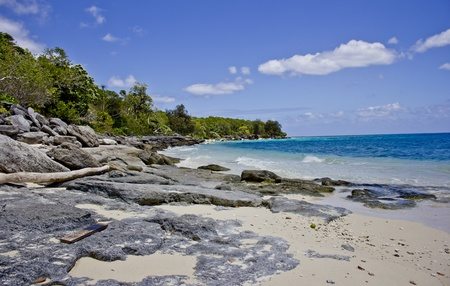vanuatu: Tropical beach Vanuatu Stock Photo