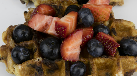 belgian: Belgian waffle Stock Photo