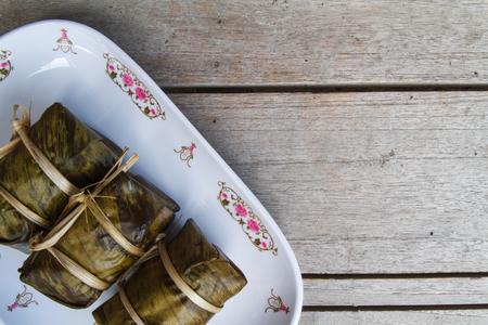 mush: Bunch of mush on the white dish  Stock Photo