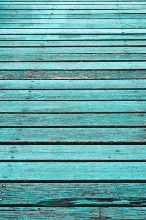 Texture of old blue wood boards. photo