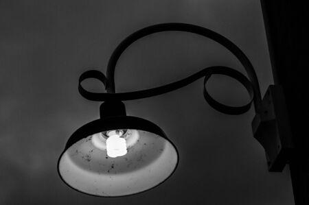 street lamp: Gloomy Street Lamp Stock Photo