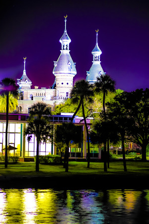 Waterfront shot of The University of Tampa