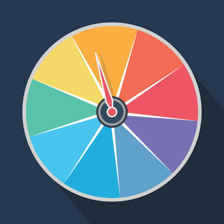 luck wheel: rainbow roulette wheel
