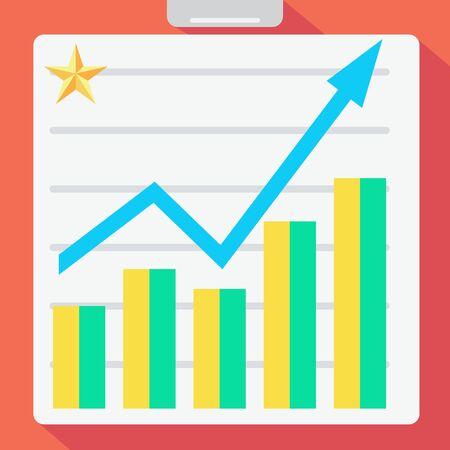 statistic: flat statistic graph design