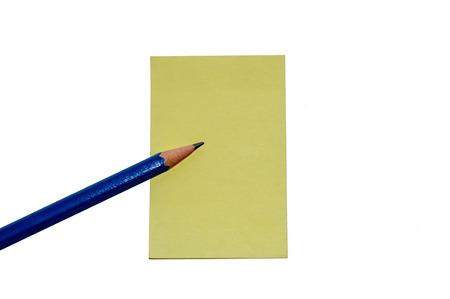 paper note: Nota de papel l�piz Foto de archivo