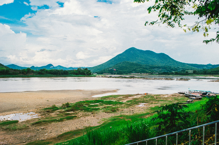 mekong river: Mekong River and Mountains