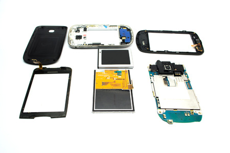 issued: Parts of the device, a new electrode material was issued for repair on white background.