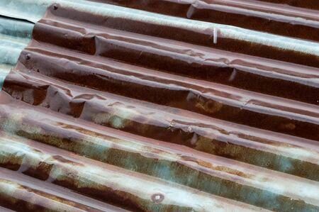tin: Rusty Tin Roof Stock Photo
