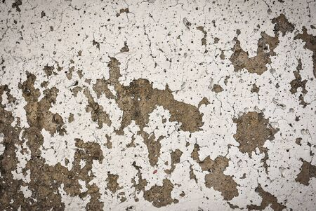 scaling: White color scaling off grungy concrete surface Stock Photo