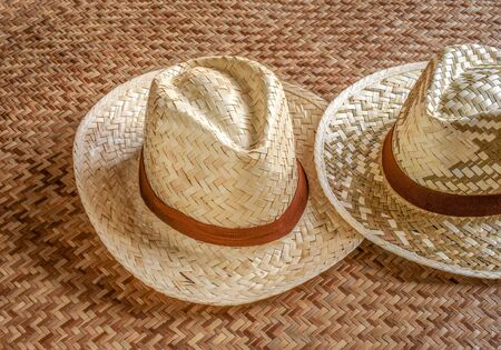 Bamboo woven hat made to meet modern style. Best to wear on tropical vacation trip. The basketry of bamboo strips provides ventilation of heat and moisture.