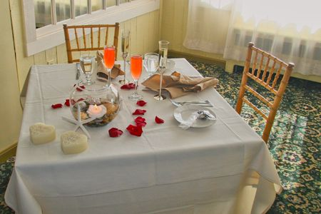Sweetheart Table for Bride and Groom at Wedding Stock Photo - 2820232
