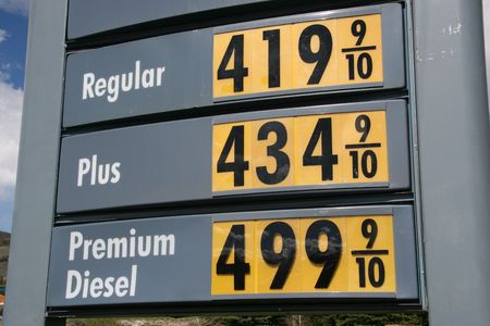 gallon: Gas and Diesel prices keep going up. Diesel hits 5 dollars a gallon.