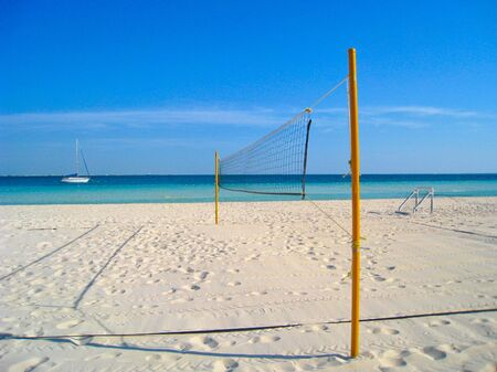 Beach Volleyball Net in Caribbean photo