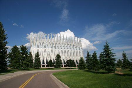 resortes: Academia de la Fuerza A�rea Capilla, Colorado Springs, Colorado, EE.UU. Foto de archivo