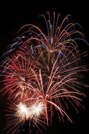Fireworks display. Could be used for New Years's Eve 4th of July or any type of celebration. Stock Photo - 3361334