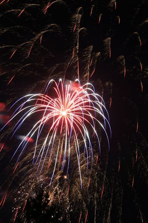 Fireworks display. Could be used for New Years's Eve 4th of July or any type of celebration. Imagens