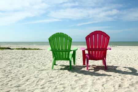 adirondack chair: Adirondack Beach Chairs with Ocean View