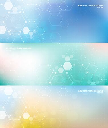 Molecule structure abstract background. Medical, research, chemistry, biotechnology, science and technology concepts, vector illustration.