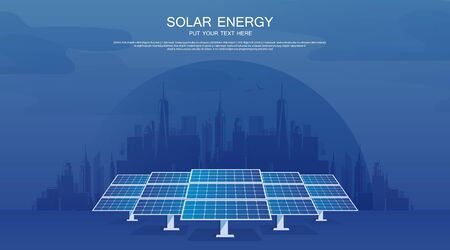 Ecology solar cell system diagram. Can be used for workflow layout, banner, diagram, web design, timeline, info chart, statistic brochure template.