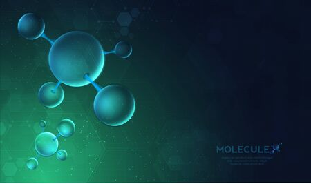 DNA digital, sequence, code structure with glow. Science concept and nano technology background. vector design. 일러스트
