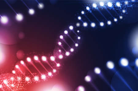 DNA digital, sequence, code structure with glow. Science concept and nano technology background. vector design. Çizim