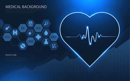 Modern medical technology and innovation concept. health care pattern medical innovation concept background design. 版權商用圖片 - 150989847