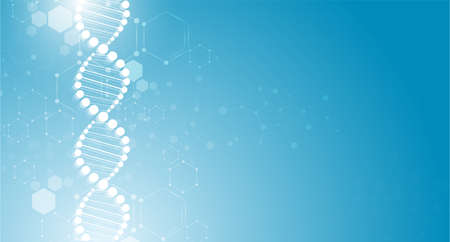 DNA digital, sequence, code structure with glow. Science concept and nano technology background. vector design. Illustration