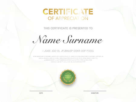 diploma certificate template red and gold color with luxury and modern style vector image, suitable for appreciation. Vector illustration. Vektoros illusztráció