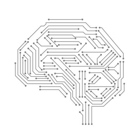 Artificial intelligence, machine learning, ai, data deep learning for future technology artwork, mining, isometric, neural network, machine programming and Responsive web banner. Illustration. Ilustração Vetorial