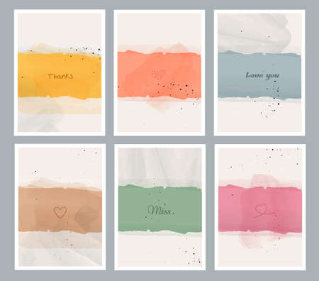 Abstract arts background with different shapes for wall decoration, postcard or brochure cover design. Vector illustrations.