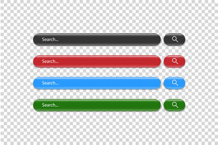 Search bar vector template for internet searching design. Ilustração