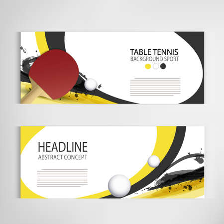 table Tennis tournament. poster or banner vector template design. Ilustrace