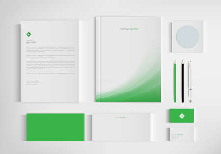 Mock up set business brand template of stationery. vector design. Ilustracja