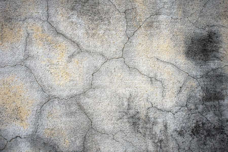 grunged: old concrete crackand grunged wall