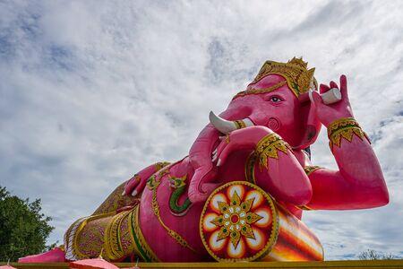 Ganesha the elephant - headed god at Wat Saman Rattanaram in Chachoengsao, Thailand.