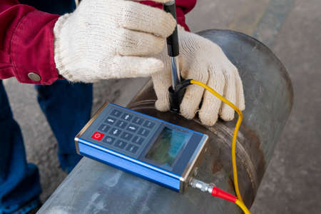 Brinell hardness testing of alloy pipe and welding after a post weld heat treatment (PWHT)