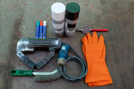 Tools and equipment for Non-Destructive Testing(NDT) of welding. with process Magnetic Particle Testing(MT).