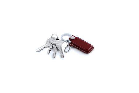 the keys isolated white background Stock Photo