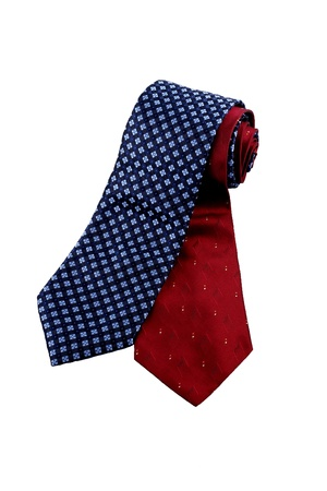 blue and red necktie isolated