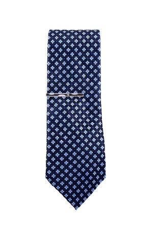 Blue necktie isolated