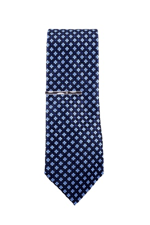 Blue necktie isolated