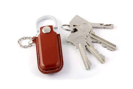 the isolated keys white background  Stock Photo